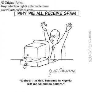 spam mail cartoon