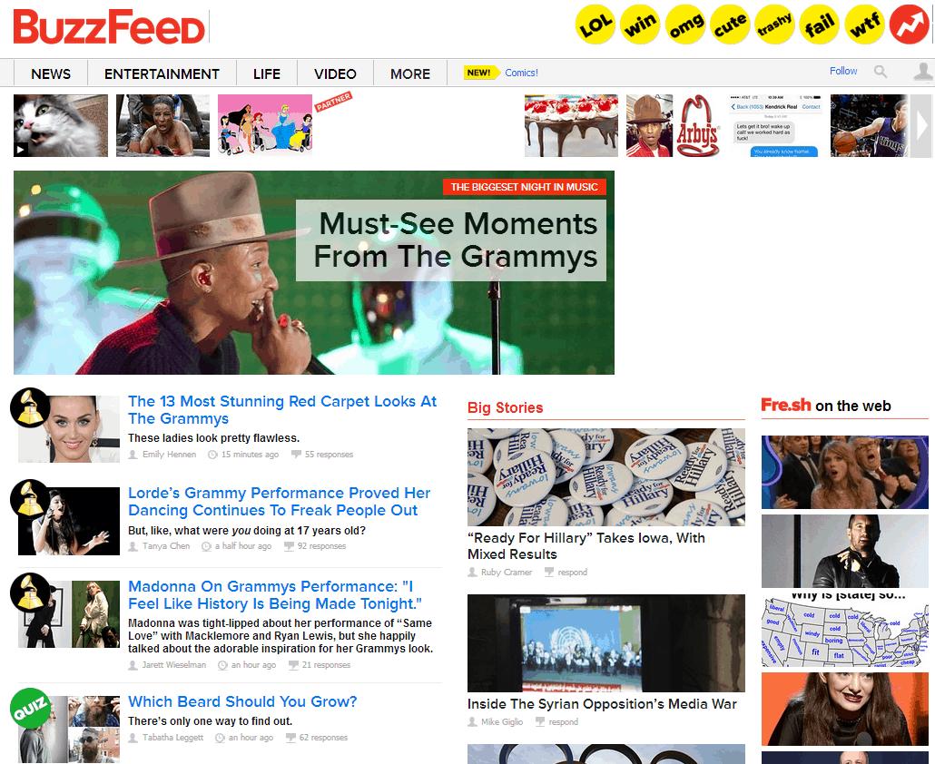 BuzzFeed Website