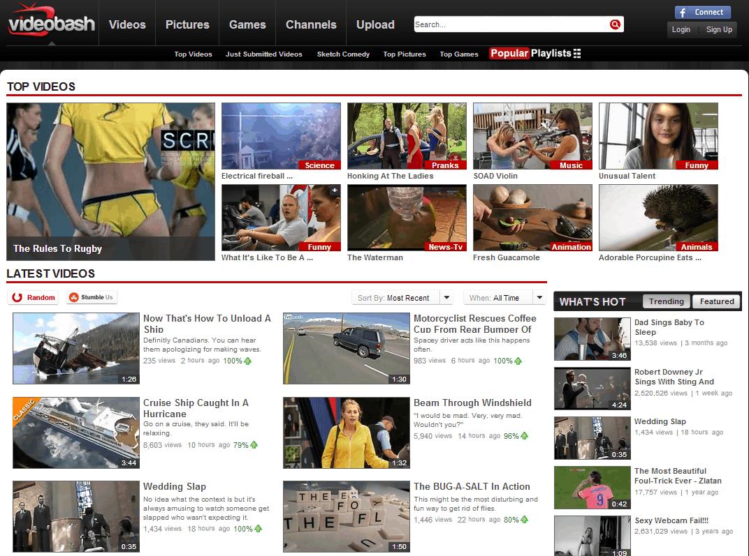 Videobash website