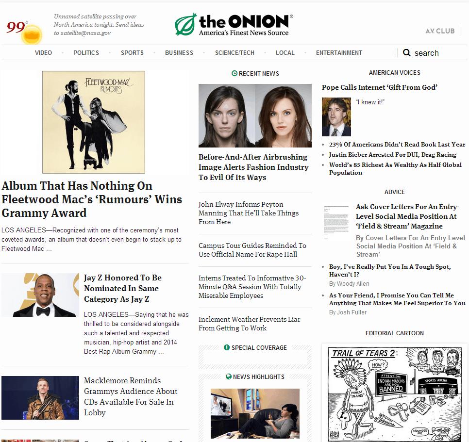 theONION Website