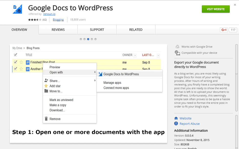Google Docs to WordPress Pasting from Word or Excel Chrome Extension